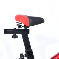 Ape Style Spin Bike with Flywheel Home Gym Exercise (Black/Red)
