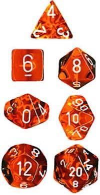 Chessex Translucent Polyhedral Dice Set - Orange image