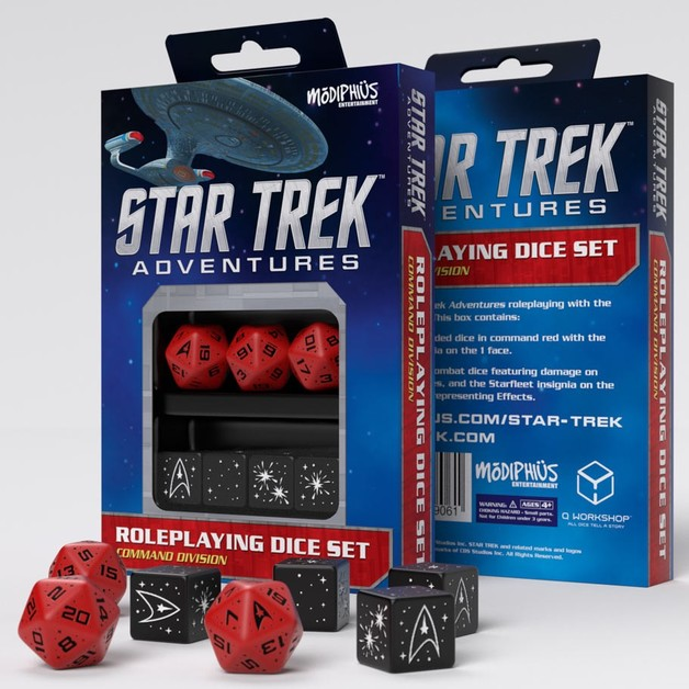 Star Trek Adventures Dice Set: Red & Black