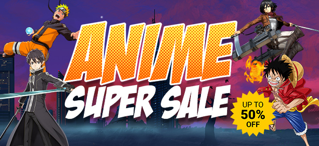 Anime Super Sale! Up to 50% Off!