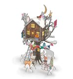 Christmas Tree House Advent Calendar Pop N Slot