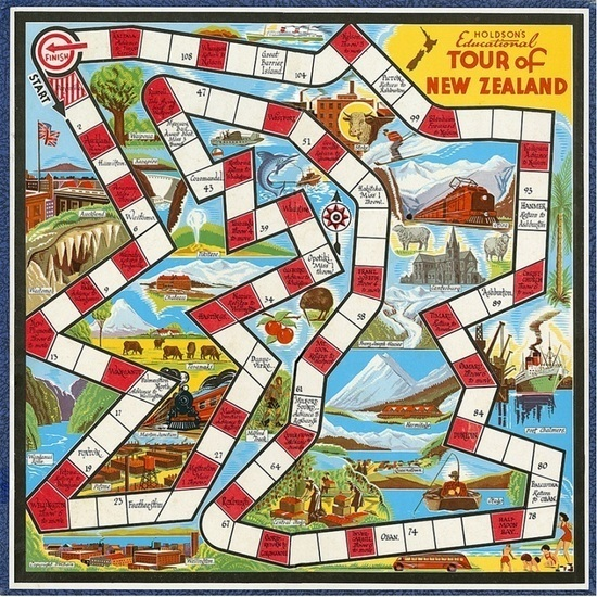 Tour of New Zealand - Board Game image