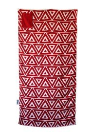 Towelling It XL Beach Towel - Red Geo (With Pocket)