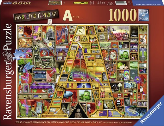 Ravensburger : Awesome Alphabet A Puzzle (1000 Pcs)