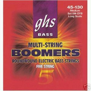 GHS Medium 5 String 45-130 Long Scale Bass Boomers - Electric Bass Strings