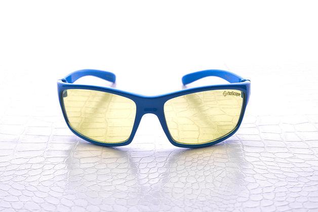 NoScope Minotaur Computer Gaming Glasses - Tsunami Blue for PC Games