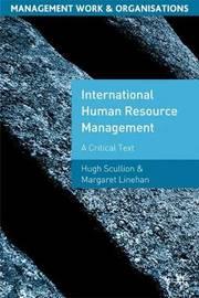 International Human Resource Management by Hugh Scullion image