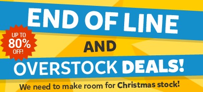 End of line & overstock sale!