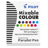 Pilot Parallel Calligraphy Pen Ink Refill - Assorted (12 Pack)