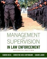 Management and Supervision in Law Enforcement by Christine Hess Orthmann image