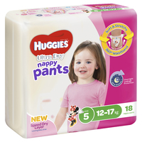 Huggies Ultra Dry Nappy Pants - Walker Girl 12-17 kg (18)