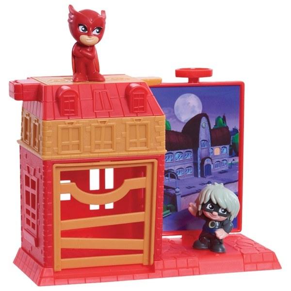 PJ Masks: Nighttime Micros - Trap & Escape Playset (Owlette & Luna Girl)