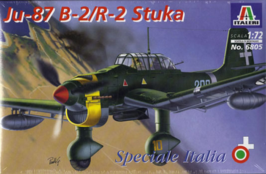Italeri Ju-87 B-2/R-2 Stuka 1:72 Model Kit image