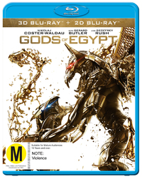 Gods Of Egypt on Blu-ray, 3D Blu-ray