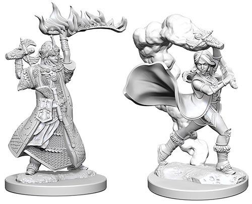 Pathfinder Deep Cuts: Unpainted Miniature Figures - Human Female Cleric image