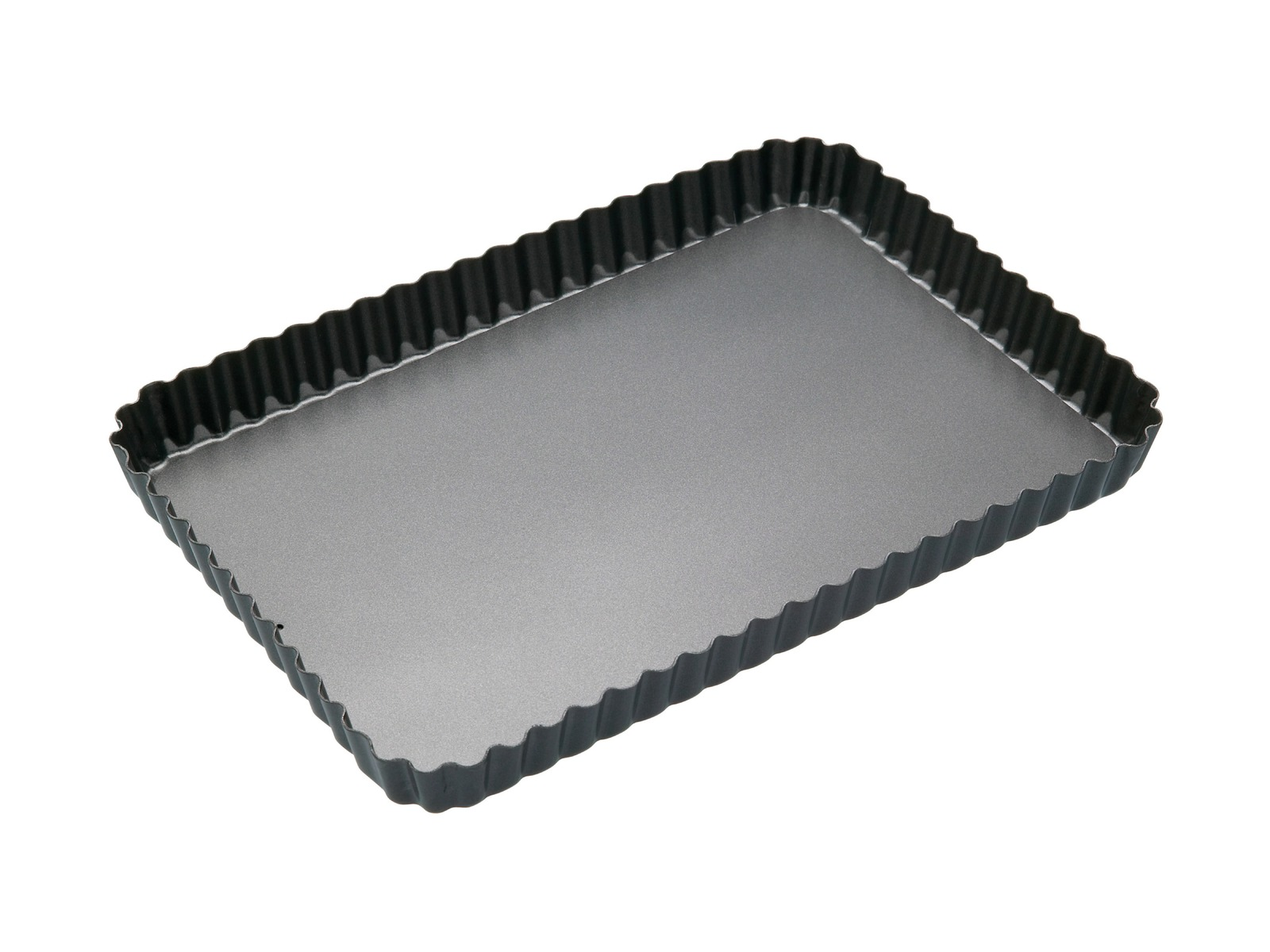 MasterClass: Non-Stick Loose Base Fluted Rectangular Flan/Quiche Pan (31x21cm) image