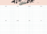Kaisercraft: K Style Belle Collection Weekly Desk Pad