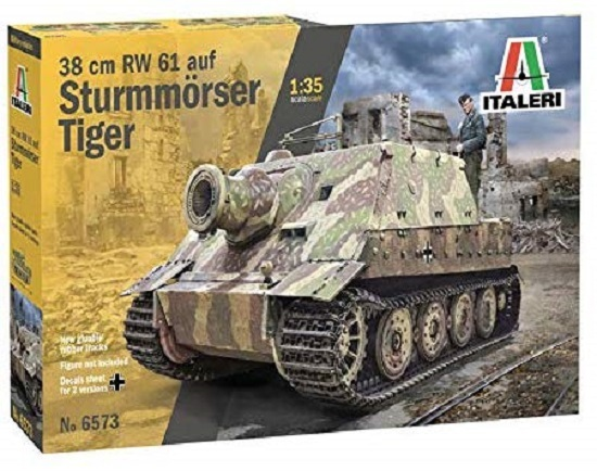 Italeri: 1/35 38cm RW 61 auf Sturmmöser Tiger - Model Kit