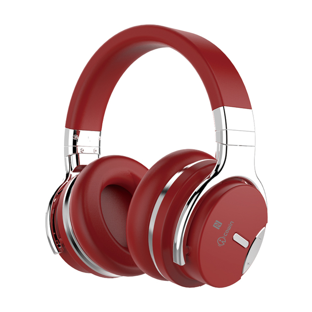 Cowin: E7S Active Noise Cancelling - Wireless Bluetooth Headphones (Red)