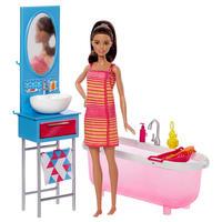Barbie: Doll and Furniture Bathroom Playset