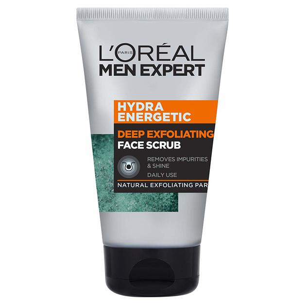 L'Oreal Men Expert - Hydra Energetic Deep Exfoliating Face Scrub (100ml)