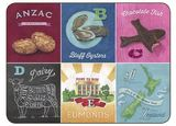 Kiwiana Foods A-Z Placemats (Set of 6)
