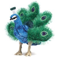 Folkmanis Hand Puppet - Small Peacock