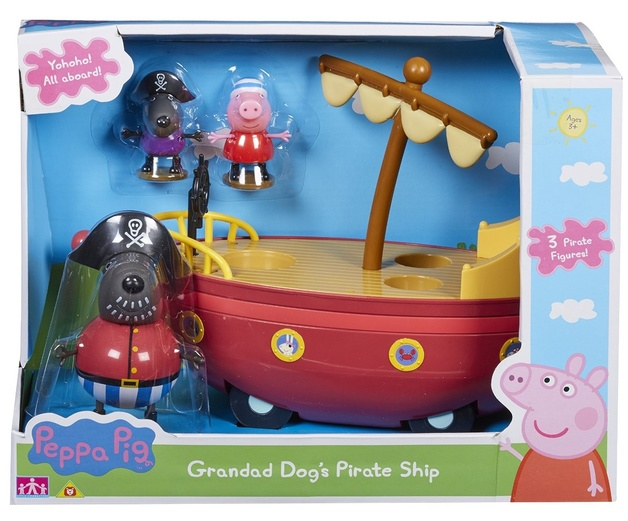 Peppa Pig Grandad Dog S Pirate Ship Toy At Mighty Ape Nz