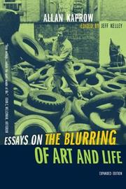 Essays on the Blurring of Art and Life by Allan Kaprow image