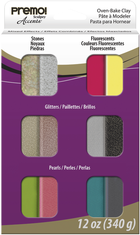 Sculpey Premo Accents Mixed (Pack Of 12)