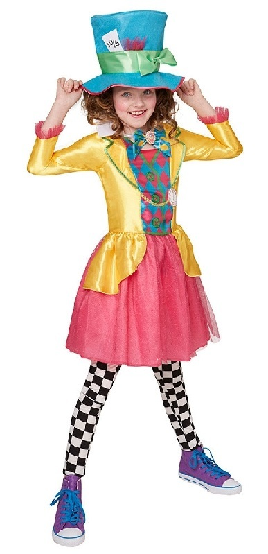 Disney: Mad Hatter - Deluxe Girl's Costume (Size 11-12) image