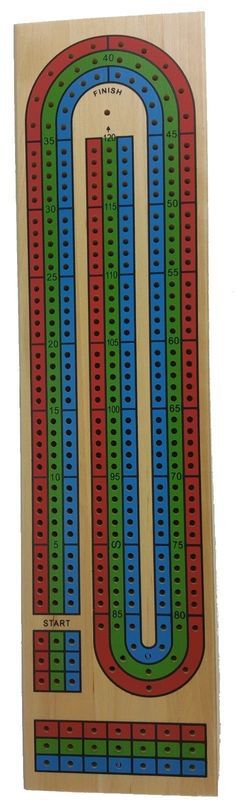 Toysmith: Triple Track - Cribbage Board