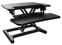 Gorilla Office: Ergonomic Deskalator Black (550x415mm) Height Adjustable Workstation