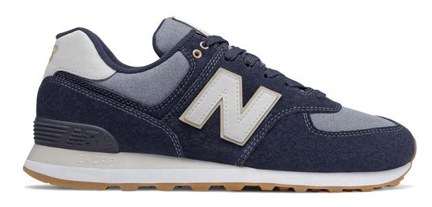New Balance: Mens 574 Running Shoes - Dark Blue (Size US 9.5)