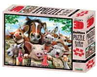 Super 3D: 500-Piece Jigsaw Puzzle - Derp Farm Selfie