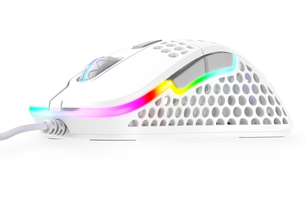 XTRFY M4 Ultra-Light RGB Gaming Mouse (White) for PC