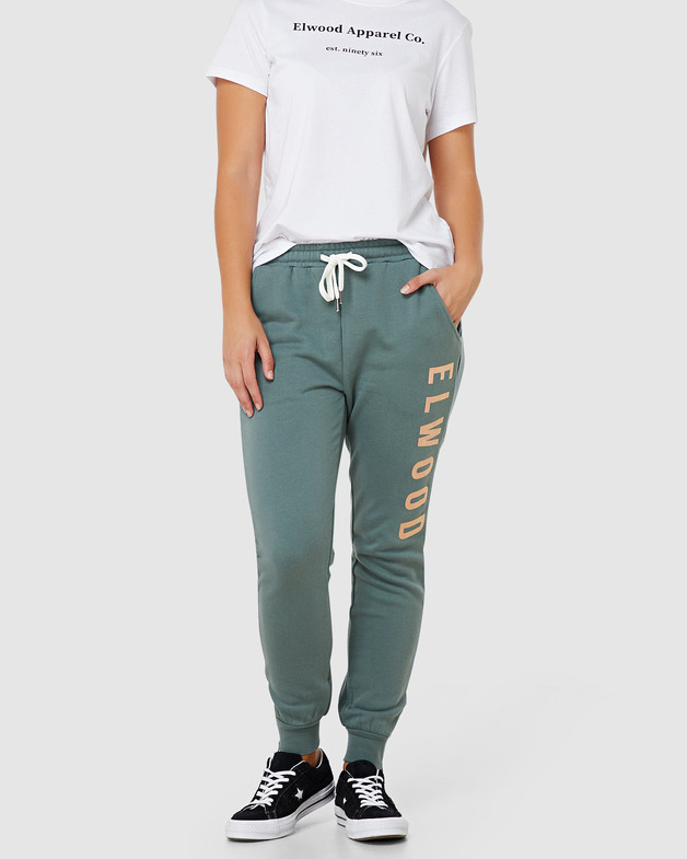 Elwood: Womens Huff N Puff Trackpants - Hunter Green (10)