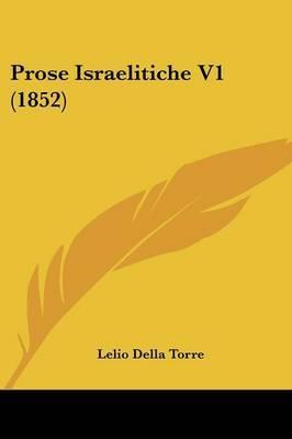 Prose Israelitiche V1 (1852) by Lelio Della Torre image