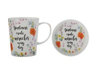 Maxwell & Williams Royal Botanic Garden Green Thumb Mug & Coaster - Miracles (400ML)