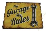 My Garage Corrugated Metal Wall Plaque