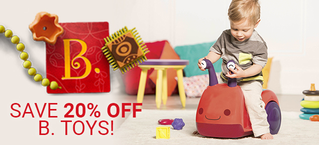 20% off B. Toys!