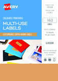 Avery L7261 Multi-Use Labels - Copper (10 Sheets/160 Labels)