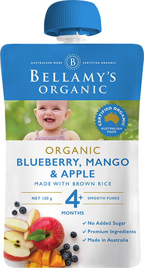 Bellamy's Organic: Mango Blueberry & Apple (120gm)