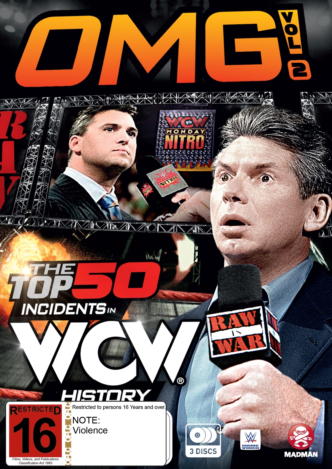 WWE: OMG! Volume 2 - Top 50 Incidents In WCW History on DVD image