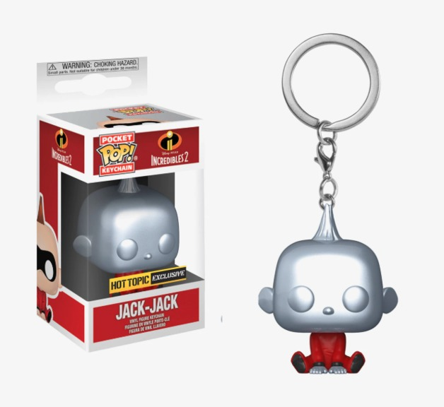 Incredibles 2 - Jack-Jack Metallic Pocket Pop! Keychain