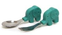 Marcus & Marcus: Palm Grasp Spoon & Fork Set - Elephant image
