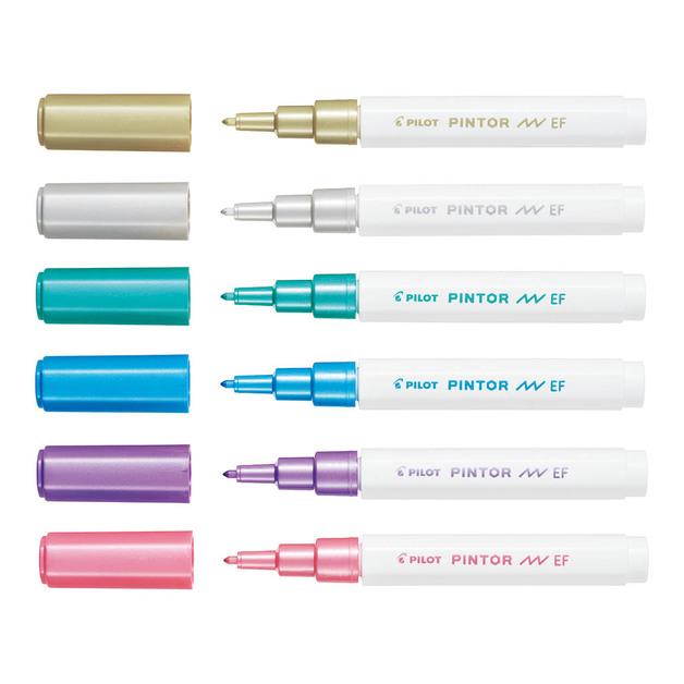 Pilot: Pintor Extra Fine Marker - Metallics (6 Pack)
