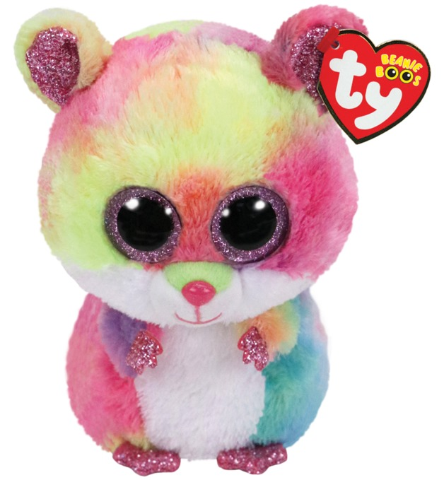 Ty Beanie Boo - Rainbow Hamster  55fb544fc4f8