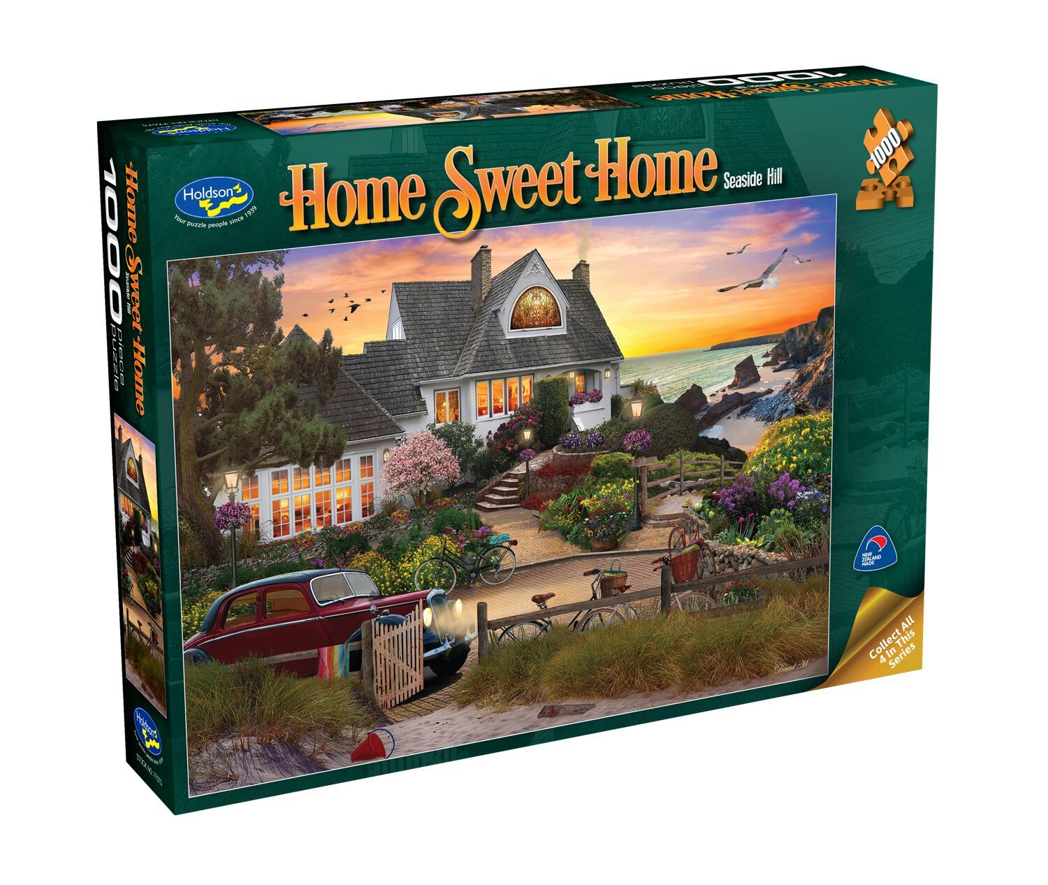 Holdson: 1000 Piece Puzzle - Home Sweet Home (Seaside Hill) image