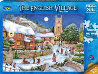 Holdson XL: 500 Piece Puzzle - The English Village S2 (Starry Nights) image